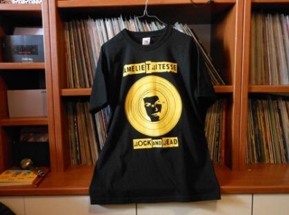 t-shirt AmelieTritesse_nero.giallo