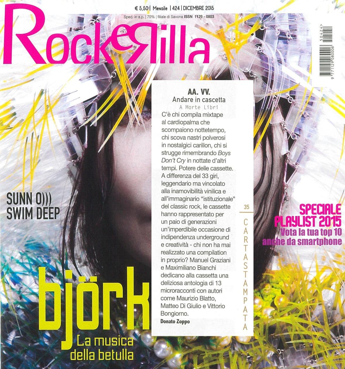 """""""Andare in cascetta"""" Rockerilla - dicembre 2015"""