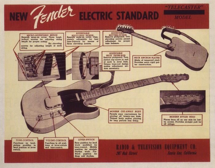 pubblicità Fender Telecaster